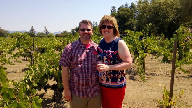 Out among the vines at Chase Cellars